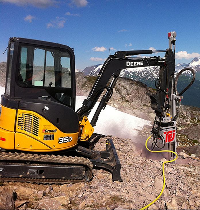 MME HYDRAULIC DRILLING ATTACHMENT FOR MINI AND SMALL EXCAVATORS